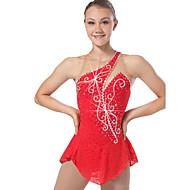 Vestidos para Patinação Artística Mulheres Raparigas Para Meninas Patinação no Gelo Vestidos Vermelho Pedrarias Lantejoulas Elasticidade