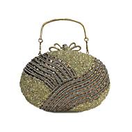 Damen Taschen Ganzjährig PU Abendtasche Crystal / Strass Anhänger / Schmuck für Hochzeit Veranstaltung / Fest Formal Gold Schwarz Silber