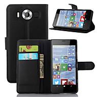 のために Nokiakケース ウォレット / カードホルダー / スタンド付き ケース フルボディー ケース ソリッドカラー ハード PUレザー NokiaNokia Lumia 950 / Nokia Lumia 930 / Nokia Lumia 830 / Nokia