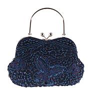 baratos Clutches & Bolsas de Noite-Mulheres Bolsas Poliéster Bolsa de Festa Miçangas Vermelho Escuro / Khaki / Champanhe