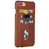 用途 iPhone X iPhone 8 iPhone 7 iPhone 7 Plus iPhone 6 ケース カバー カードホルダー バックカバー ケース 純色 ハード PUレザー のために Apple iPhone X iPhone 8 Plus iPhone 8