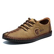 お買い得  メンズオックスフォードシューズ-男性用 靴 レザー 春 / 秋 コンフォートシューズ オックスフォードシューズ ブラック / イエロー / カーキ色 / 革靴