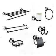 Bad Zubehör-Set Antik 140 63 Handtuchhalter Handtuchring WC-Rollenhalter Kleiderhaken Seifenschale Zahnbürstenhalter Handtuchwärmer Wand