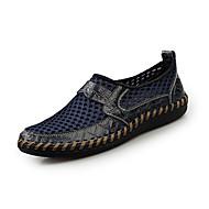 お買い得  大きいサイズ/小さいサイズ 靴-男性用 靴 PUレザー 秋 / 冬 コンフォートシューズ ローファー&スリップアドオン ダークブラウン / グリーン / ブルー