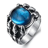 男性用 ステートメントリング 指輪 ファッション 合成宝石類 チタン鋼 ジュエリー 用途 日常 カジュアル