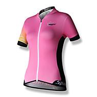 Χαμηλού Κόστους SPAKCT®-SPAKCT Γυναικεία Κοντομάνικο Φανέλα ποδηλασίας - Ανθισμένο Ροζ Patchwork Ποδήλατο Αθλητική μπλούζα Μπολύζες, Αναπνέει Γρήγορο Στέγνωμα Αντανακλαστικές Λωρίδες 100% Πολυέστερ / Ελαστικό / Φερμουάρ YKK