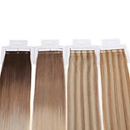 neitsi grade 7a 16 '' 30g / lot bande 20pcs dans les extensions de cheveux humains 100% remy droite trame de peau de ombre