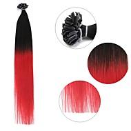 neitsi 20 '' 50g / tétel 1g / s ombre előre ragasztott köröm u tip fúziós emberi póthaj 100% remy t1-piros #