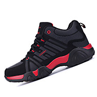 Feminino-Tênis-Conforto-Rasteiro-Preto Azul Vermelho-Tecido-Para Esporte