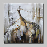 מצויר ביד אנשים ציור אבסטרקט ציורי שמן,מודרני סגנון ארופאי פנל אחד בד ציור שמן צבוע-Hang For קישוט הבית