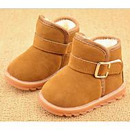 זול נעלי תינוקות-בנות בנים נעליים פרווה חורף מגפי שלג מגפיים ל קזו'אל בָּחוּץ שחור פוקסיה חום