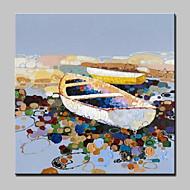 billiga Stilleben-HANDMÅLAD Abstrakta landskap Pop olje,Moderna Europeisk Stil En panel Kanvas Hang målad oljemålning For Hem-dekoration