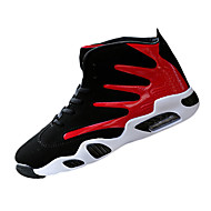 Basketball Shoes Men's Athletic Shoes Spring Fall Comfort PU Athletic Casual Flat Heel Lace-up Black/Blue Black/Red Black/White