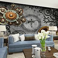 billige Tapet-Blomstret Art Deco 3D Hjem Dekor Moderne Tapetsering, Lerret Materiale selvklebende nødvendig Veggmaleri, Tapet
