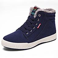 Sneakers-PU-Komfort-Herre-Sort Marine Mørkegrøn-Udendørs-Flad hæl