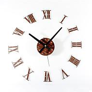 お買い得  壁時計-コンテンポラリー レトロ風 休暇 抽象風 家族 友達 漫画 壁時計,円形 ノベルティ柄 アクリル メタル ウッド 60 屋内/屋外 クロック