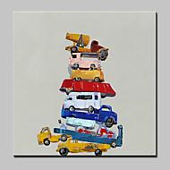 billiga POP Art-Hang målad oljemålning HANDMÅLAD - Popkonst Moderna / Europeisk Stil Inkludera innerram