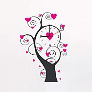 Moderne/Contemporain Fleurs / Botaniques Personnages Inspiré Mariage Famille Amis Horloge murale,Nouveauté Plastique Autres 58*40