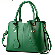 cheap Bags-Women's Bags PU Tote Zipper Rivet for Formal Office & Career Outdoor All Seasons Black Fuchsia Green Wine