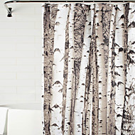 cheap Shower Curtains-Shower Curtains Neoclassical Polyester Floral/Botanical Machine Made