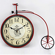 E-HOME® Retro Red Bike Metal Wall Clock One Pcs