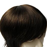 6 * 8inch erkekler kaliteli insan bakire saç düz Peruksuz