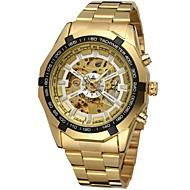 billiga Mekaniska klockor-FORSINING Herr Armbandsur mekanisk klocka Automatisk självuppdragande Guld Ihålig Gravyr Ramtyp Lyx Mode - Guld Vit Svart