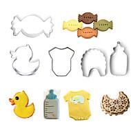baratos Utensílios para Biscoitos-Ferramentas bakeware Aço Inoxidável Faça Você Mesmo Bolo / Biscoito / Torta Desenhos Animados 3D / Animal Molde 5pçs