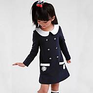 Djevojka je Pamuk Kolaž Proljeće Jesen Dugih rukava Haljina