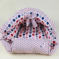 Dog Bed Pet Mats & Pads Polka Dots Soft Blue Pink For Pets