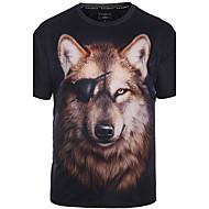 Homens Tamanhos Grandes Camiseta - Bandagem Punk & Góticas Boho Estampado Decote Redondo