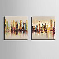 Kézzel festett Absztrakt Landscape Festmények,Modern Európai stílus Egy elem Vászon Hang festett olajfestmény For lakberendezési