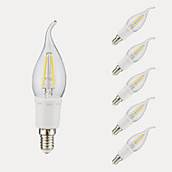 tanie Więcej Kupujesz, Więcej Oszczędzasz-GMY® 6szt 3W 380/300lm E12 Żarówka dekoracyjna LED B 4 Koraliki LED COB Ciepła biel Zimna biel 110-130V