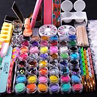 2000 Nail Art Kits & Sets Ferramentas Chique & Moderno Adorável Romântico Na moda Nail Art Design Empurrador de Cuticula Nail Glitter