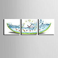 MINI SIZE E-HOME Watermelon Fantasy Clock in Canvas 3pcs