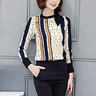 Rund hals Dame - Prikker Skjorte Polyester