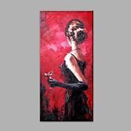 Maalattu Abstrakti Ihmiset Pystysuora,Moderni 1 paneeli Kanvas Hang-Painted öljymaalaus For Kodinsisustus
