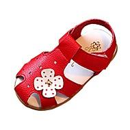 Bebê Para Meninas Sandálias Conforto Courino Primavera Verão Outono Casual Caminhada Conforto Presilha RasteiroBranco Preto Vermelho Rosa