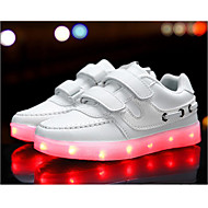 cheap Boys' Shoes-Boys' Shoes Synthetic Spring Summer Light Up Shoes Comfort Sneakers LED Hook & Loop Split Joint for Casual Outdoor White Black Blue Pink
