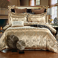 cheap High Quality Duvet Covers-Duvet Cover Sets Floral 4 Piece Silk/Cotton Blend Jacquard Silk/Cotton Blend 4pcs (1 Duvet Cover, 1 Flat Sheet, 2 Shams)
