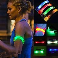 1pcs creatieve sportfeest partijen knipperende led licht gloed armband riem multi color willekeurige kleur