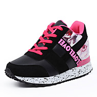 Women's Athletic Shoes Spring Fall Comfort PU Outdoor Lace-up Red Gray Black and White