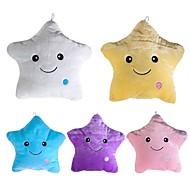 baratos Conjuntos de Almofadas-1 pc colorido corpo travesseiro estrela brilho led luz luminosa travesseiro almofada macio relaxe presente sorriso corpo travesseiro
