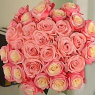 tanie -1 Gałąź PU Roses Bukiety na stół Sztuczne Kwiaty