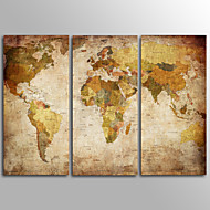 cheap Wall Art-Rolled Canvas Prints Traditional, Three Panels Canvas Horizontal Print Wall Decor Home Decoration