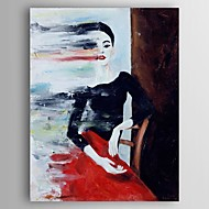 cheap Oil Paintings-Hand-Painted People Vertical, Modern Canvas Oil Painting Home Decoration One Panel