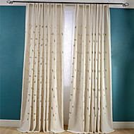 To paneler Window Treatment Rustikk Neoklassisk Stue Lin/ Polyester Blanding Materiale gardiner gardiner Hjem Dekor For Vindu