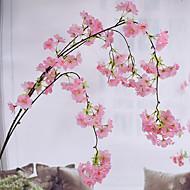 billige Kunstige blomster-Kunstige blomster 1 Gren Pastorale Stilen Sakura Veggblomst