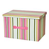raylinedo® 39l vêtements boîte de rangement en toile pliable organisateur couverture placard pull boîte maison docor à rayures roses