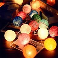 2.5m 20leds ratana lopta niz vila svjetla vjenčanje ukras stranke vruće koristiti šarene bajke svjetlo ukras u vrtu